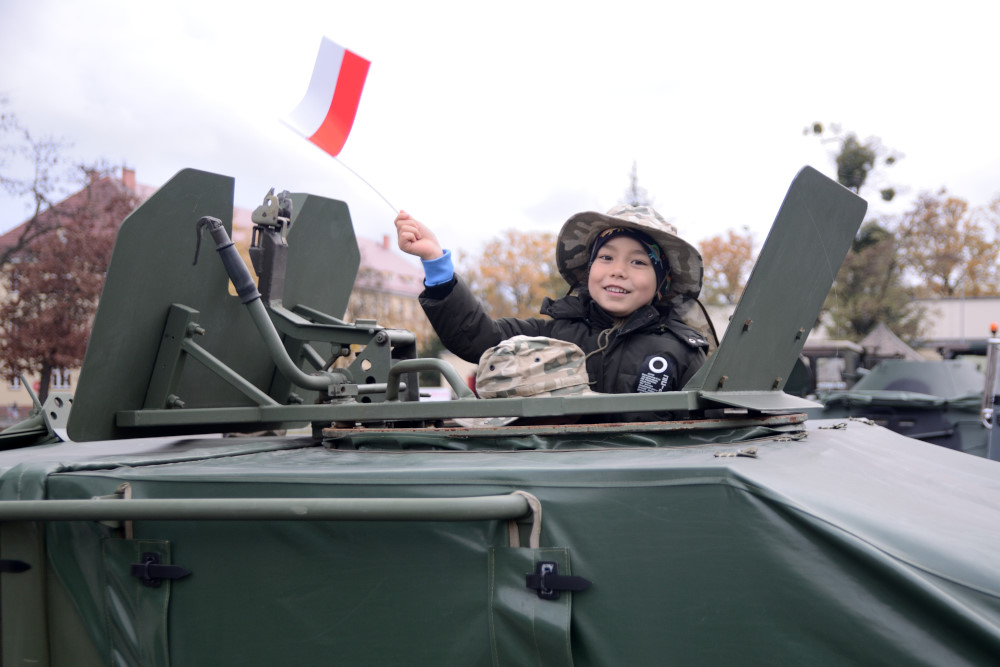Military Picnic for Independence Day in Poland
